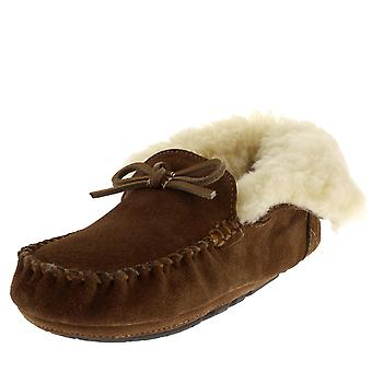 Womens Barbour Patsy Winter Camel Warm Cosy Fur Lined Ankle Boot Slippers