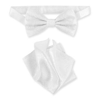 Vesuvio Napoli BowTie Paisley Mens Bow Tie & Handkerchief