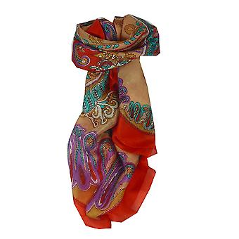 Mulberry Silk Classic Square Scarf Querim Red by Pashmina & Silk
