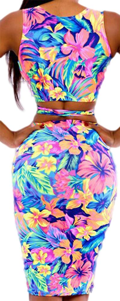 Waooh - Short dress with flower pattern Gehu