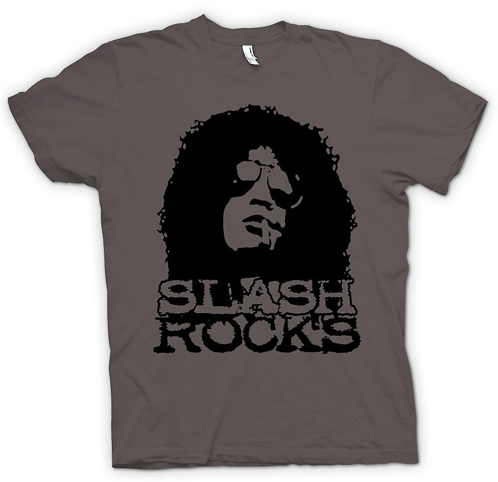 Mens t-skjorte - Slash gitar Rock - Guns n Roses