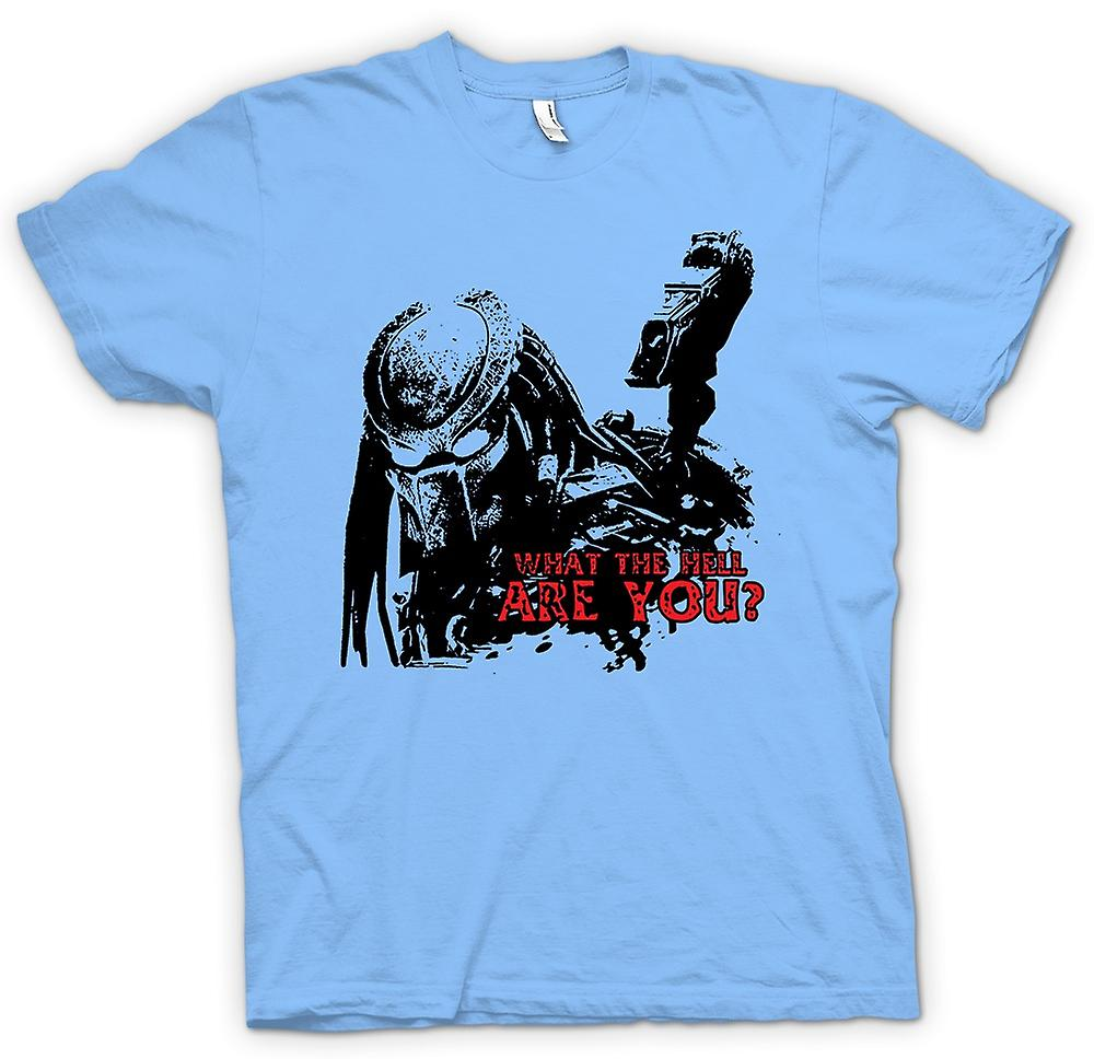 Mens T-shirt - was zum Teufel Predator - Alien