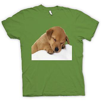 Womens T-shirt - Cute Sleeping Puppy Dog