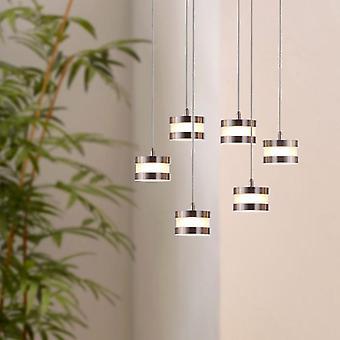 Pendant Industrial Nickel Hanging Mercury Ceiling Lamp 6 Pendant Rectangular Canopy