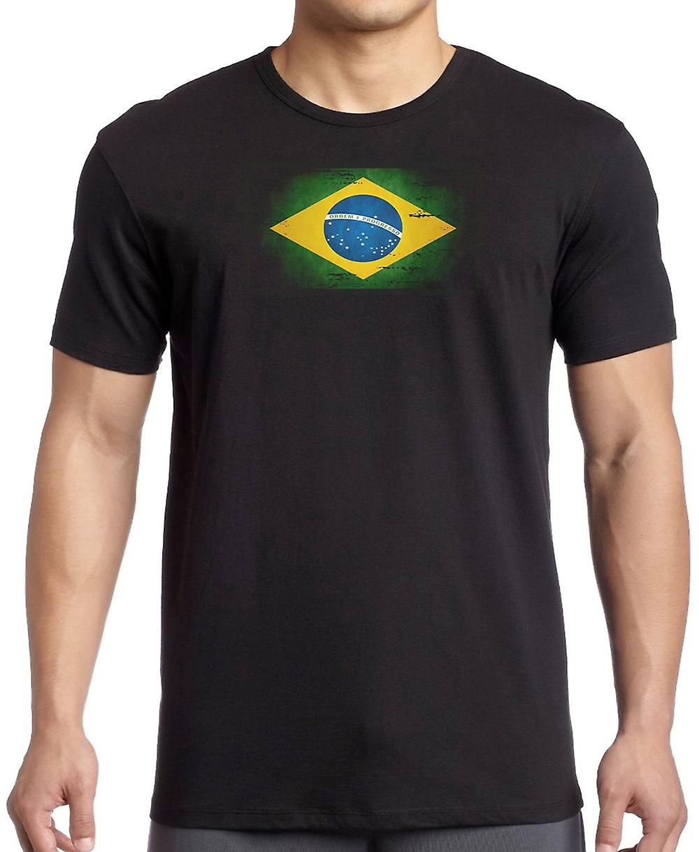 Brasile brasiliano Grunge Flag Kids T Shirt