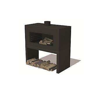 Burni Enok tuinhaard cortenstaal 100x50x100 cm - zwart