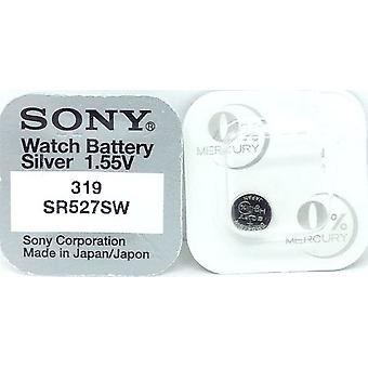 Sony 319 (sr527sw) 1.55v Silver Oxide (0%hg) Mercury Free Watch Battery - Made In Japan