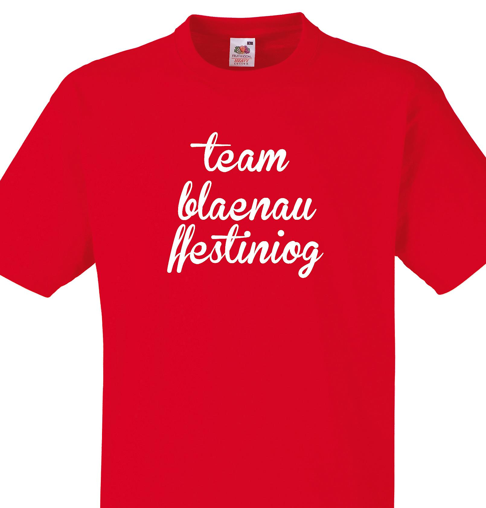Team Blaenau ffestiniog Red T shirt