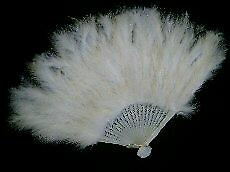 Feathered Fan In White. Beautiful For That Night Out.(1)