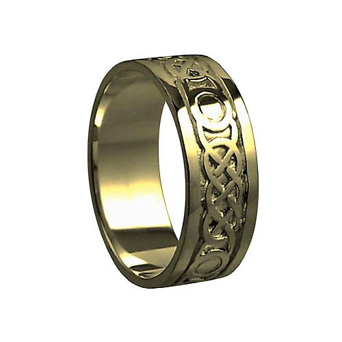 9ct Gold 8mm Celtic Wedding Ring Size S