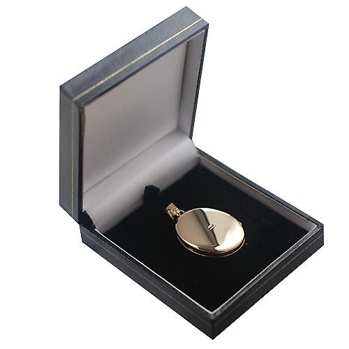 9ct Gold 35x26mm oval hand engraved 4 photo family Locket