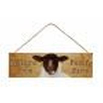 Os sentidos-enfrentado carneiros placa Funny Farm