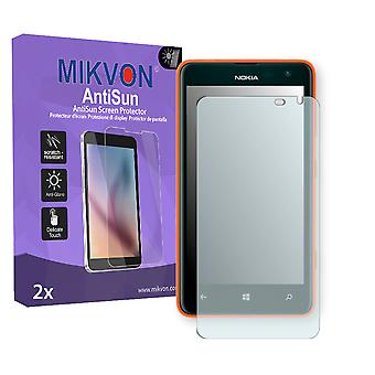 Nokia Lumia 625 LTE Screen Protector - Mikvon AntiSun (Retail Package with accessories) (reduced foil)
