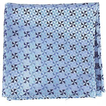 David Van Hagen Windmühle Design seidenes Taschentuch - blau