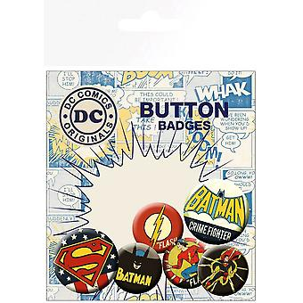 DC Comics Originals Retro Button Badge Pack