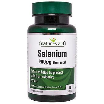 Nature's Aid Selenium 200ug (avec zinc et vitamines A; C et E) Comprimés 90