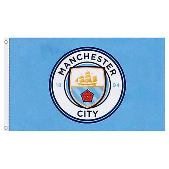 Manchester City FC Core Crest Flag