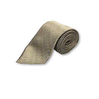 Lanvin tie in gold abstract wavy pattern