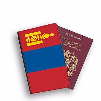 MONGOLIA Flag Passport Holder Style Case Cover Protective Wallet Flags design