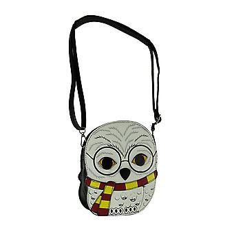 Snowy Owl in Glasses School of Magic Crossbody Purse Small