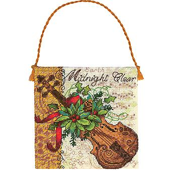 Gold Collection Petites Violin Ornament Counted Cross Stitch 7