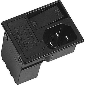 IEC connector C14 ATT.LOV.SERIES_POWERCONNECTORS 42R Plug, vertical mount Total number of pins: 2 + PE 10 A Black K & B