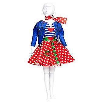Dress Your Doll Lucy Polka Dots (Toys , Educative And Creative , Design And Mode , Mode)