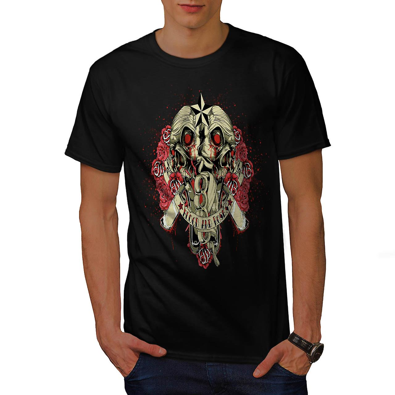 Blood And Roses Fear Flower Love Men Black T-shirt | Wellcoda