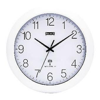Balance Radio-Controlled Wall Clock 30 Cm Analogue White And Silver