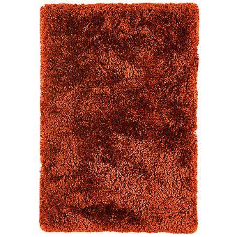 Oriel Rust Orange Shag Area Rug