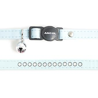 Safety Buckle Cat Collar Deluxe Jewel Baby Blue (Pack of 3)
