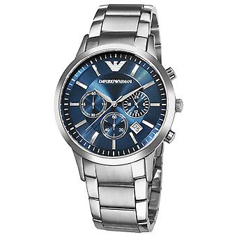 Emporio Armani AR2448 Stainless Steel Blue Dial Chronograph Watch