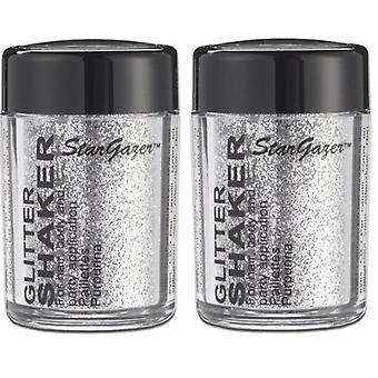 Glitter Shaker SILVER x 2