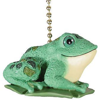 Rana verde Sapo ranita Froggie Decor techo ventilador extracción suave