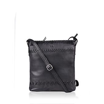 Fairfield Leather Across Body Bag in Black