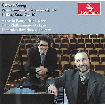 E. Grieg - Edvard Grieg: Piano Concerto in a Minor, Op. 16; Holberg Suite, Op. 40 [CD] USA import