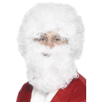 Panel set Santa Claus white wig and beard