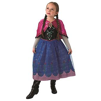 Princess Anna Frozen ice Queen costume with music and light effect children