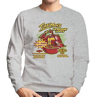 Kerosene Loops Turbo Man Jingle All The Way Cereal Men's Sweatshirt