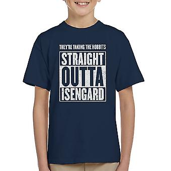 Straight Outta Isengard Lord Of The Rings Kid's T-Shirt