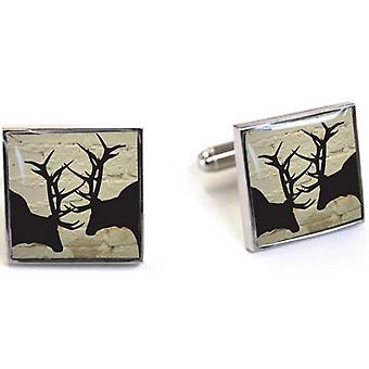 Tyler and Tyler Brick Rut Cufflinks - White