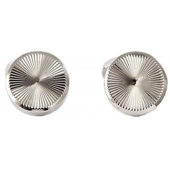 David Aster Round Links Roulette Cufflinks - Silver