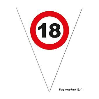Part favoriserer Flagline 18 rød færdselsskilt 5m