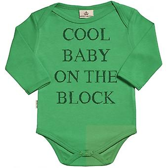 Spoilt Rotten Cool Baby On The Block Organic Baby Grow