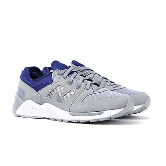 New Balance 009 Light Grey Suede IMEVA Runner Trainers