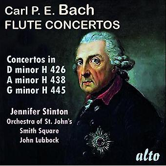 Stinton, Jennifer / Lubbock, John / Orch st. John's - C.P.E. Bach: Flute Concertos [CD] USA import