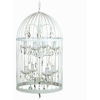 Bigbuy Shine white cage lamp by Inline (Home , Lighting , Hanging lamps)