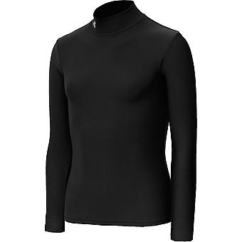 UNDER ARMOUR coldgear longsleeve girls' fitted mock [black]