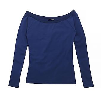 Brave Soul Womens/Ladies Jazz Bardot Long Sleeve Open Neck Top