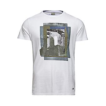 Jack and Jones Premium Alec Tee Crew Neck White T-Shirt
